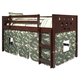 Kids Twin Low Loft Bed with Tent