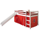 Kids Twin Low Loft Tent Bed with Slide
