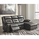 Coahoma 3-Piece Reclining Sectional with Chaise and Power