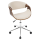Upholstered Open Back Home Office Chair