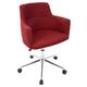 Upholstered Swivel Home Office Chair