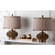 Textured Metal Table Lamp (Set of 2)