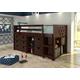 Kids Circles Low Loft Bed Set
