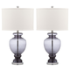 Translucent Glass Table Lamp (Set of 2)