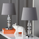 Tiered Crystal Lamp (Set of 2)