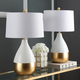 Metal Two Toned Table Lamp (Set of 2)