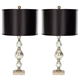 Textured Glass Table Lamp (Set of 2)