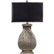 Silver Finished Scuplted Table Lamp