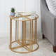 Wedge Glass Accent Table (Set of 4)