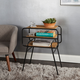 Metal Accent Table with Shelves