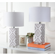 Diamond Patterned Table Lamp (Set of 2)