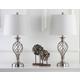 Urn Shaped Lattice Table Lamp (Set of 2)