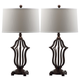 Bronze Finished Sculpture Table Lamp (Set of 2)