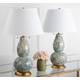 Gourd Shaped Color Swirls Glass Table Lamp (Set of 2)