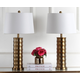 Cylinder Shaped Brass Table Lamp (Set of 2)