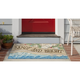 Decorative Liora Manne Whimsy Xmas on the Beach Indoor/Outdoor Rug