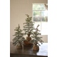 Decorative Artificial Pine Trees with Snow Detail (Set of 3)