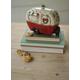 Decorative Ceramic Christmas Camper Canister