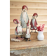 Decorative Galvanized And Painted Santas (Set of 4)