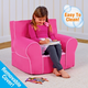 Toddler Classic Grab-n-go Passion Pink Foam Chair