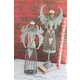 Decorative Metal Christmas Angels (Set of 2)