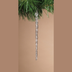 Decorative Spun Glass Hanging Icicle Ornaments (Set of 3)
