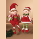 Decorative Plush Elf Shelf Sitters (Set of 2)