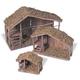 Decorative Nested Wood Nativity Stable (Set of 3)