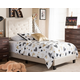Linen Twin Upholstered Bed