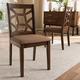 Asymmetrical Modern Dining Chair (Set of 2)