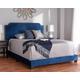Velvet Full Upholstered Bed