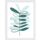 Giclee Teal Plant Wall Art