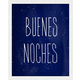 Giclee Buenos Noches Wall Art