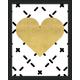 Giclee Gold Heart Wall Art