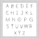 Giclee Alphabet Chart Wall Art