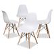 Mid Century Modern Acrylic Dining Chair (Set of 4)