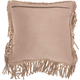Modern Fringe Borders Couture Pillow