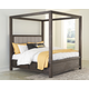Dellbeck King Canopy Bed with 4 Storage Drawers
