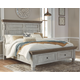 Havalance Queen Poster Bed with 2 Storage Drawers