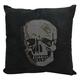 Modern Rhinestone Skull Luminescence Black Pillow