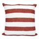 Modern Flag Stripes Luminescence Red/White Pillow
