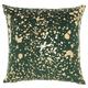 Modern Metallic Splash Luminescence Emerald Pillow