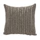 Modern Beaded Stripes Luminescence Pewter Pillow