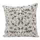 Modern Beaded Vines Luminescence Pewter Pillow