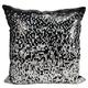 Modern Gradual Sequin Luminescence Black/Silver Pillow