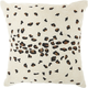 Modern Beaded Leopard Luminescence Ivory Pillow