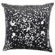 Modern Metallic Splash Luminescence Charcoal Pillow