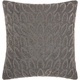 Modern Beaded Feathers Luminescence Pewter Pillow