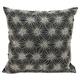 Modern Beaded Sun Stars Luminescence Black/Silver Pillow