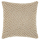 Modern Quilted Swarovski Luminescence Ivory Pillow
